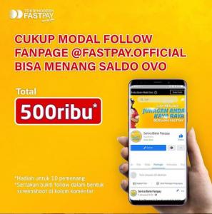omba Instagram Follow Fastpay Berhadiah Ovo - Mau dapatkan saldo ovo dengan mudah? kalau mau kalian bisa ikuti lomba follow dari fastpay ini, karena memang sangat mudah caranya