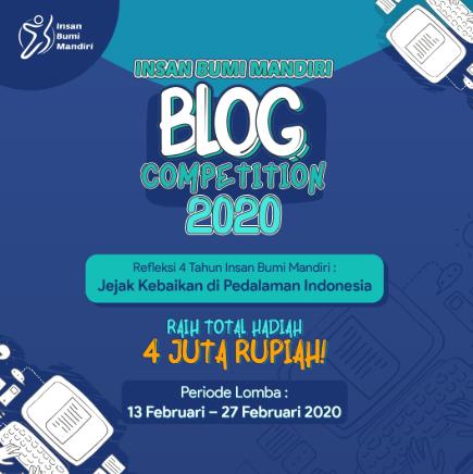 Lomba Blog Insan Bumi Mandiri 2020 Hadiah 4 Juta