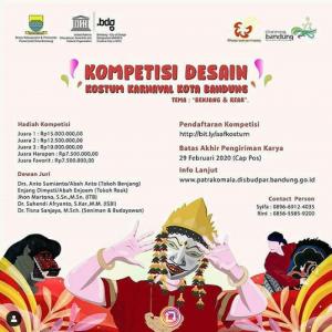 Lomba Desain Kostum Karnaval Bandung Hadiah 52.5 Juta