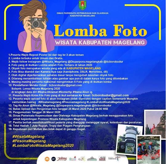 Lomba Foto Wisata Magelang Hadiah 7 Juta