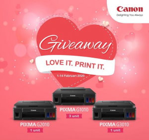 Lomba Instagram Canon Berhadiah 5 Printer Gratis