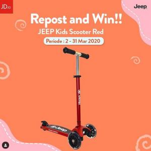 Giveaway JD.Id Berhadiah Jeep Kids Scooter