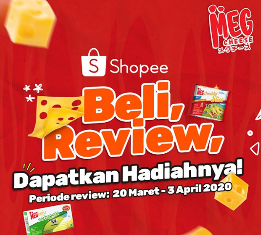 Lomba Review MEG Cheese Berhadiah Produk Menarik