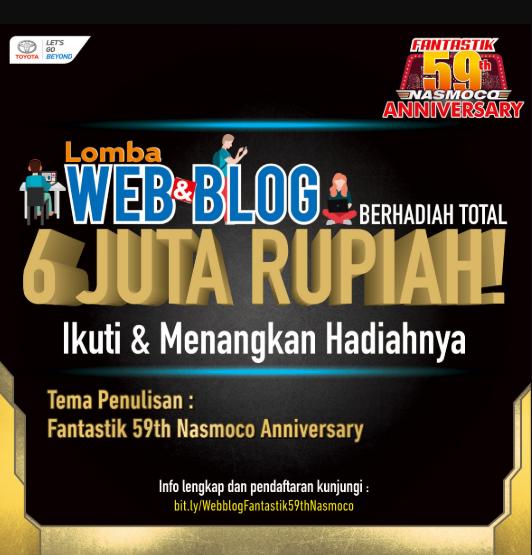 Lomba Web & Blog Nasmoco 59th Hadiah 6 Juta