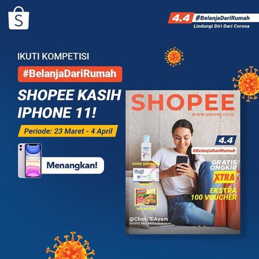 Kontes Foto Shopee Belanja dari Rumah Berhadiah Iphone 11