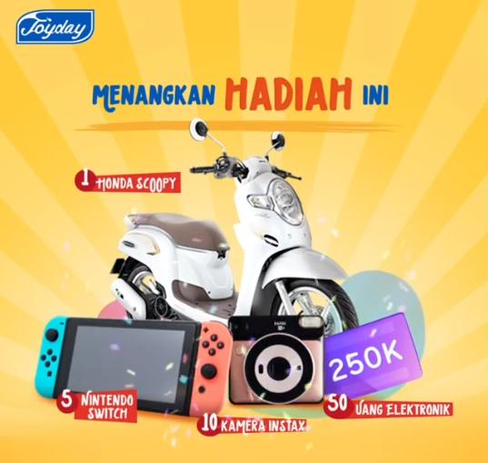 Lomba Tiktok JoyDay Berhadiah Motor Honda Scoopy Nintendo Switch Kamera Instax
