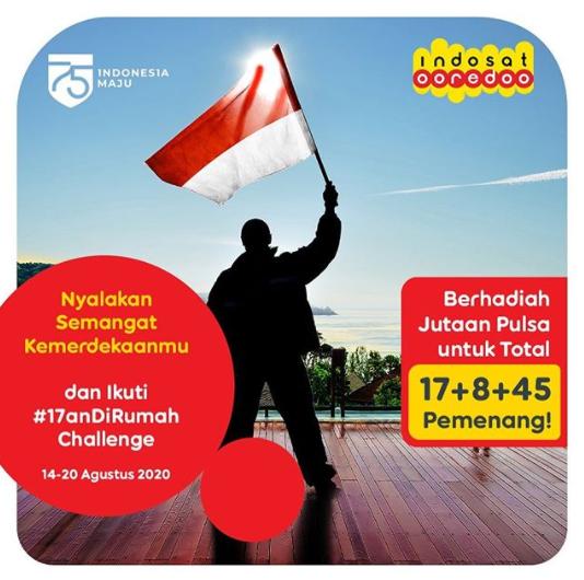 Lomba Foto & Video Indosat Ooredoo #17anDirumah Berhadiah Pulsa
