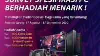Survey Asus ROG Berhadiah Headset & Kaos