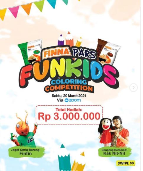 Lomba Mewarnai Finna Pars Fun Kids Total Hadiah Rp 3 Juta