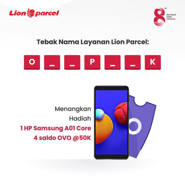 giveaway lion parcel berhadiah hp