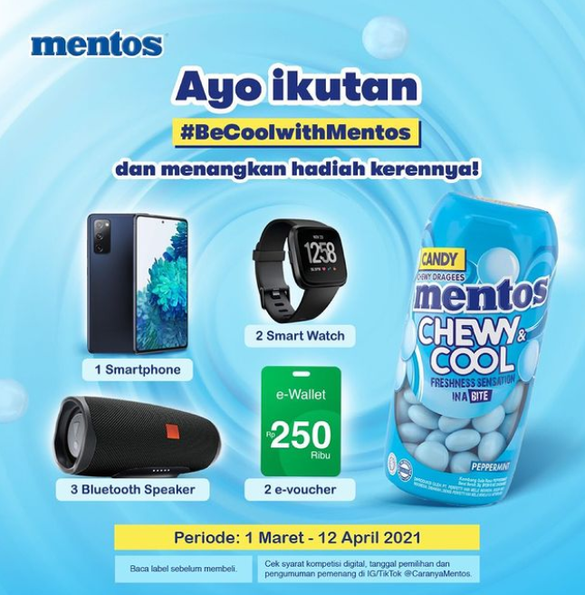 Lomba Foto Be Cool With Mentos Berhadiah Smartphone, Smartwatch dll
