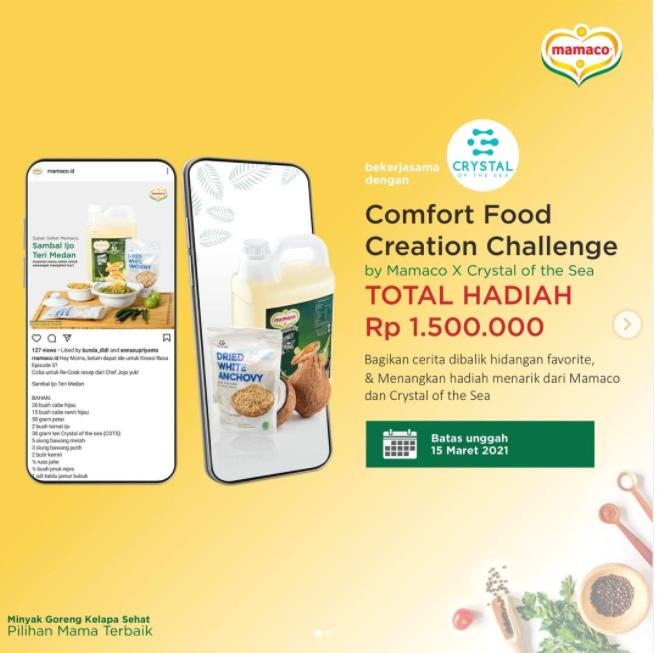 Lomba Kreasi Masak Comfort Food Creation Total Hadiah 1,5 Juta