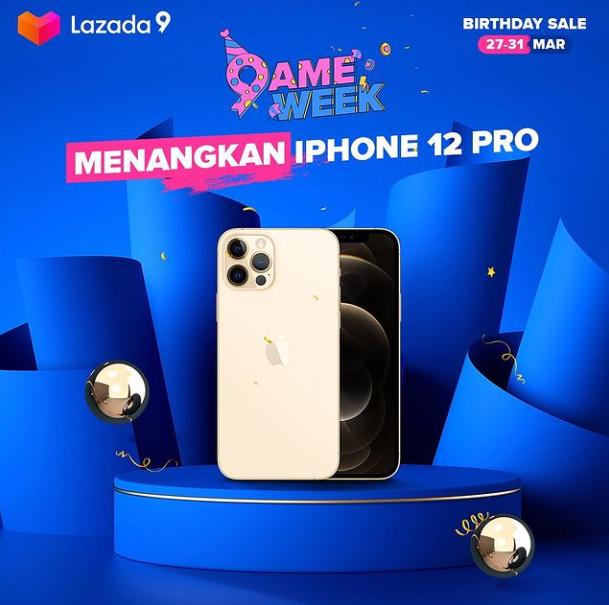 giveaway lazada berhadiah iPhone 12 Pro