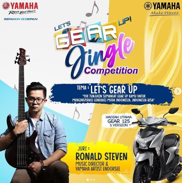 Lomba Buat Jingle Yamaha Let's Gear Up Berhadiah Motor dan Alat Musik