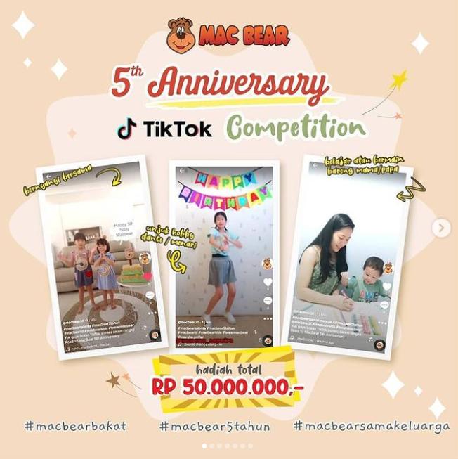 Macbear TikTok Competition Berhadiah Total 50 Juta
