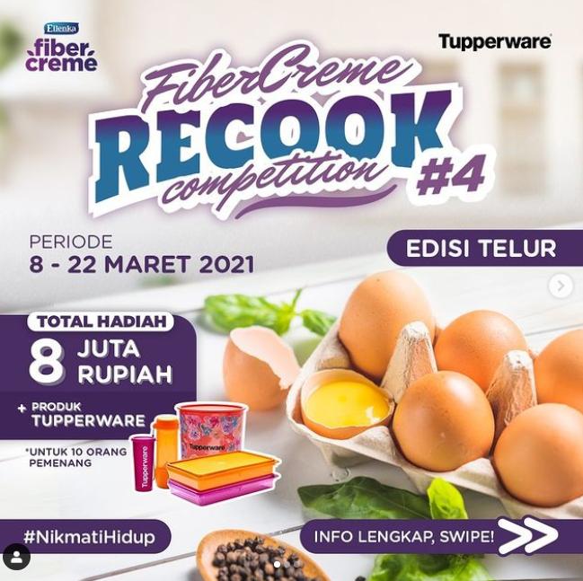 Kontes Recook Fibercreme Berhadiah Total Rp 8 Juta + Tuppeware