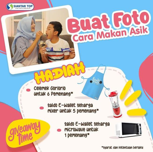 Giveaway Cara Makan Asik Goriorio Berhadiah Saldo e-Wallet Total Jutaan Rupiah
