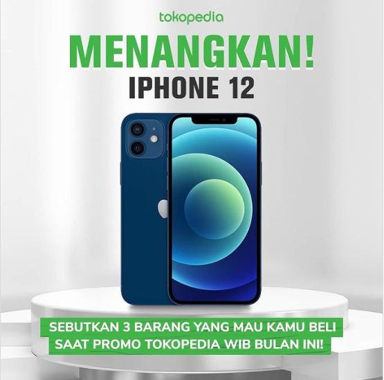 kuis dan giveaway tokopedia berhadiah iphone 12
