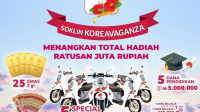 promo undian soklin koreavaganza berhadiah sepeda motor