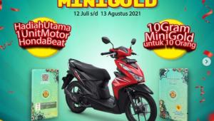 giveaway & Photocontest minigold berhadiah Motor Honda Beat dan 10 gr Emas