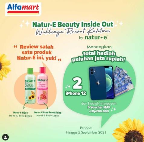 lomba review natur-e dan alfamart