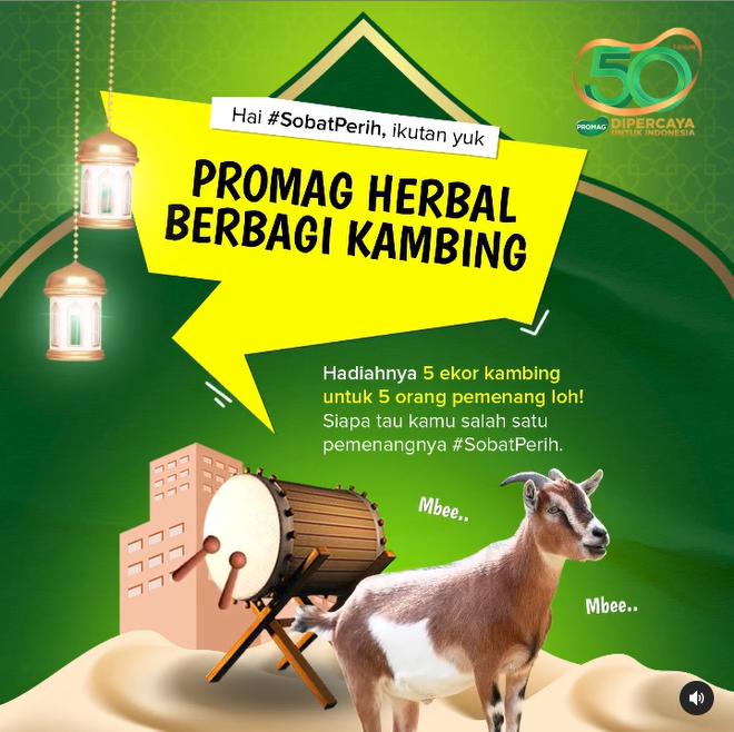lomba screenshot promag berhadiah 5 ekor kambing qurban
