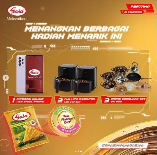 recook challenge sasa tepung bumbu pisang goreng berkalsium berhadiah hp, air fryer & Cookware Set