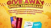 Giveaway Kemerdekaan WinCheez Berhadiah Hp & Gopay