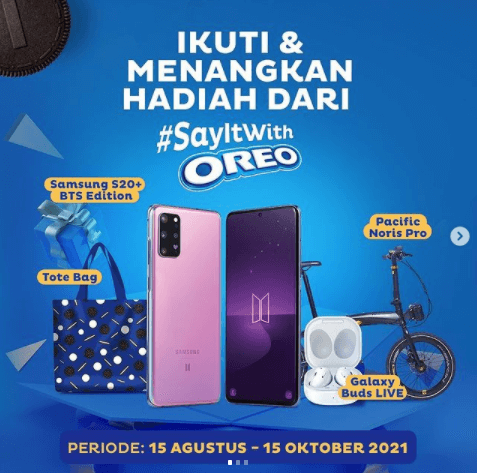 say it with oreo lomba berhadiah Samsung S20+