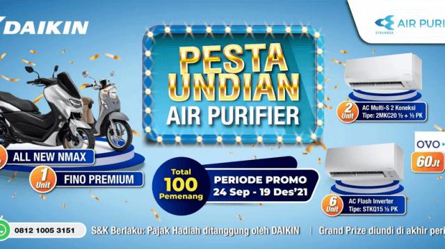 promo pesta undian air purifier daikin